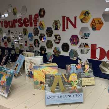 Seeing yourself and others in books helps to build justice, equity, diversity and inclusion at our school
