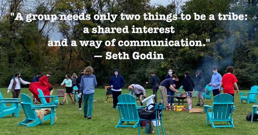 A quote from Seth Godin on social growth: A group needs only two things to be a tribe: a shared interest and a way of communication.""