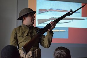 WW1 Historian visits our project class