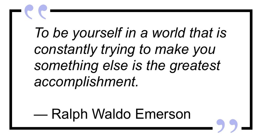 Emerson Quote on self-concept