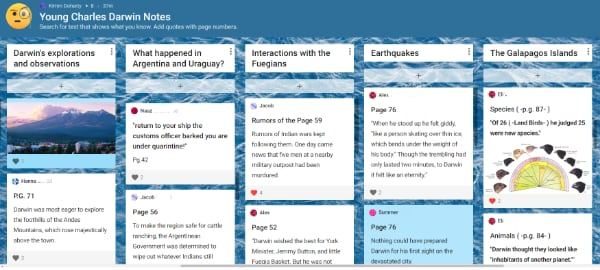 inspiring learning from home with Padlet app