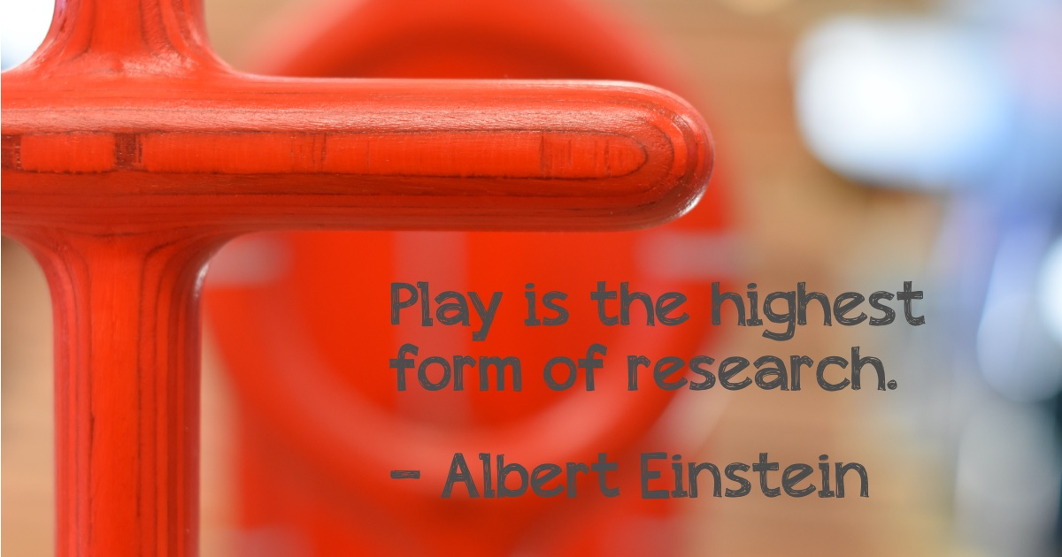 Play is the highest form of research quote; Grayson re-imagines middle school recess