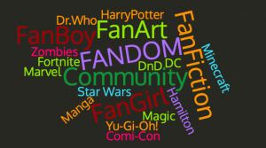 summer online fandoms wordcloud