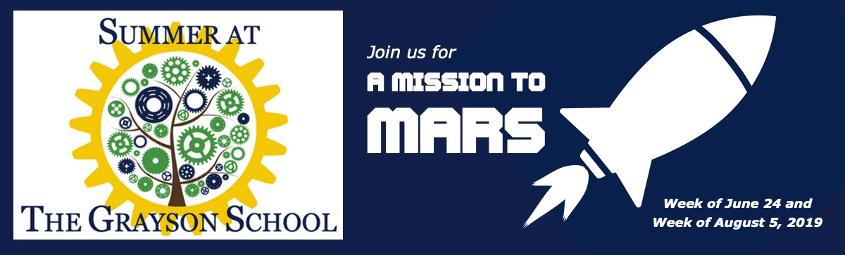 summer camp at The Grayson School - A Mission to Mars